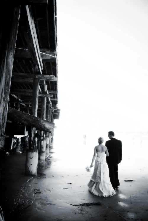 A beautiful wedding day on the beach in San Diego