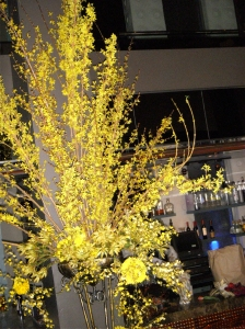 Magic Flower's dramatic pieces perfectly set off the sophisticated ambiance of the club