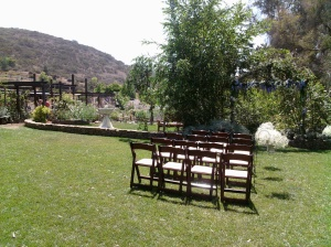 Ceremony and reception area