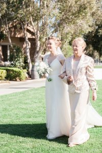 Escorted by Mom. Photo by Katie Jackson