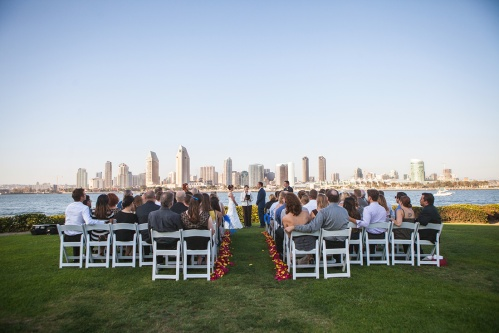 Simply use the backdrop of America's Finest City. Because, why gild the lily? At Centennial Park on Coronado. Photo by Philip DeFalco