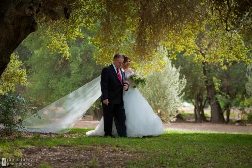 escorting bride